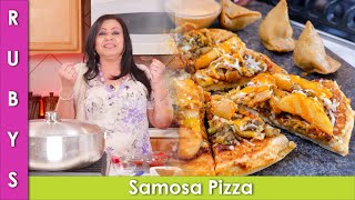 Samosa & Fries (Chips) Wala Pizza No Oven Recipe with Sauce & Drizzle in Urdu Hindi - RKK