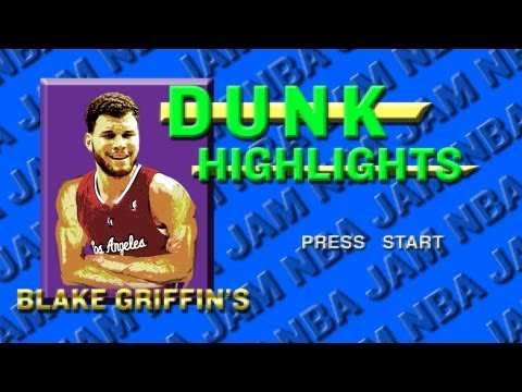 Blake Griffin NBA Jam Style Slam Dunks