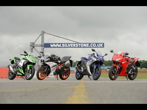 Download Video 300cc Group Test: Yamaha YZF-R3 V Honda CBR300R V KTM RC390 V Kawasaki Ninja 300 I Bike Social