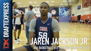 Jaren Jackson Jr USA Basketball U17 Training Camp Interview