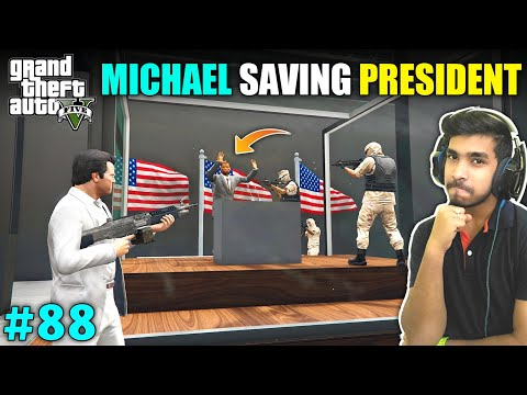 TERRORIST ATTACK ON PRESIDENT | GTA V GAMEPLAY #88