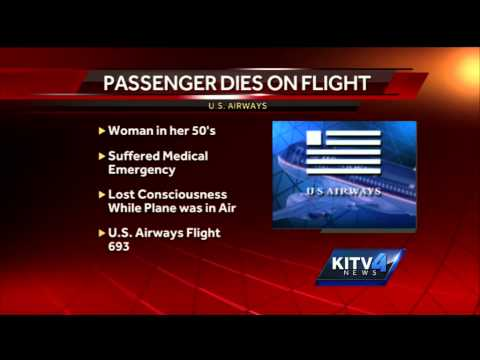 dies - A woman, said to be in her 50s, died enroute from Honolulu to Phoenix on a U.S. Airways flight. Subscribe to KITV on YouTube now for more: http://bit.ly/1hxKwsa Get more Honolulu news:...