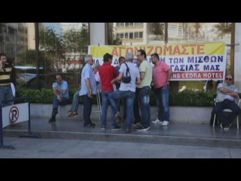 Διαμαρτυρία εργαζομένων του Athens Ledra έξω από το ξενοδοχείο
