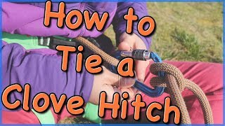 How to tie a clove hitch by The Climbing Nomads