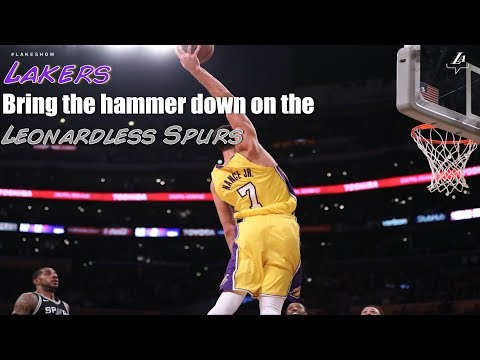 Lakers dust off depleted Spurs for their 3rd win in a row Lavar is the real MVP