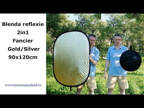 Prezentare Blenda reflexie 2in1 Fancier Gold/Silver, 90x120cm