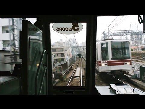 Tokyo Metro Hibiya Line driver's view from Kita-Senju to Naka-Meguro (видео)