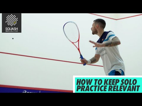 Squash tips: Guide to solo practice with Joey Barrington - How to keep solo practice relevant