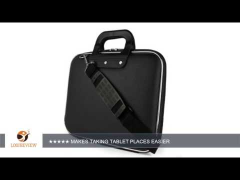 Fashion Faux Leather Hard Shell Cube, Shoulder Bag, Travel Carrying Case For Toshiba Excite 10 SE