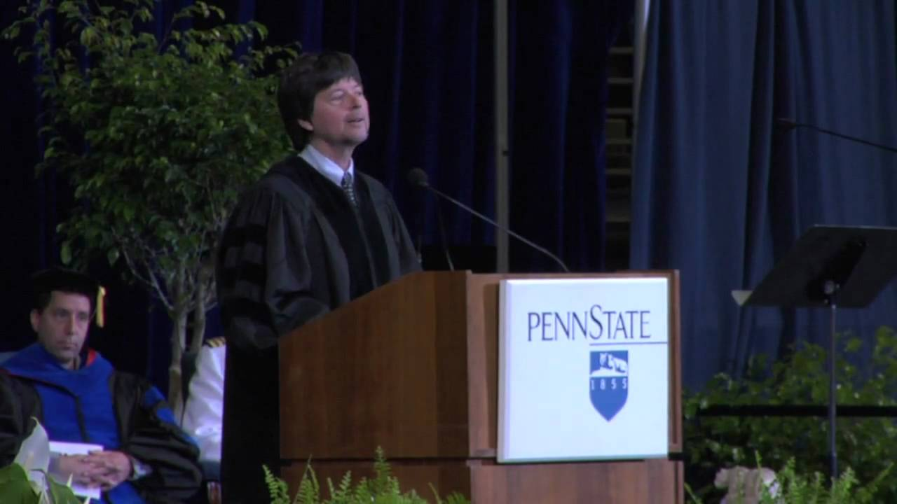 Ken Burns delivers commencement address at Penn State University