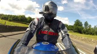 10. A road test of a friend's Triumph Sprint ST1050 and he tests my Tuono