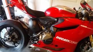 10. 2014 Ducati Panigale 1199 R w/ full racing titanium Termignoni Exhaust and up map