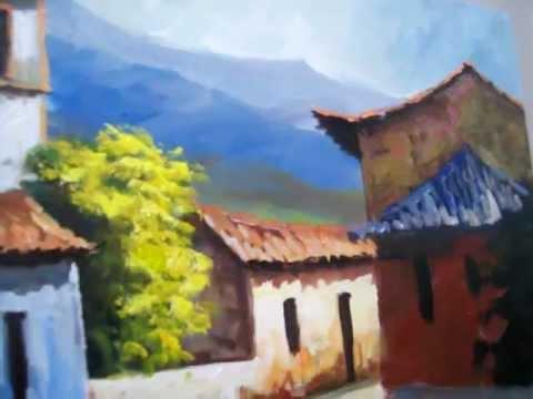 Vídeo Aula Pintando Casario a pincel