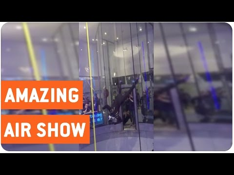 Amazing Wind Tunnel Performance At The Wind Games. Yes, There Are Wind Tunnel Games.