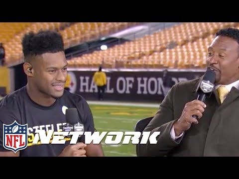 JuJu Smith-Schuster Interviewed After Dominant Win Against Panthers | NFL Network