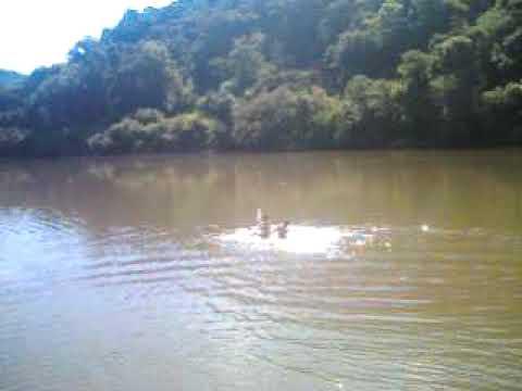 Dois loucos descendo o Rio Das Antas em pleno 02/11/2009 em uma barco de pet