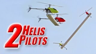 Experimental: 2 pilots trying to fly 1 new dual-heli