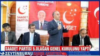 Saadet Partisi Zeytinburnu 5 Olağan Kongresini Yaptı