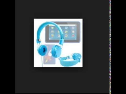 DURAGADGET Blue Ultra Stylish Kids Fashion Headphones For Apple iPad