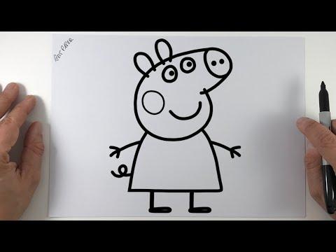 Como dibujar Peppa Pig paso a paso  How to draw a Peppa Pig