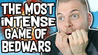 THE MOST INTENSE GAME OF BEDWARS!! - Minecraft Mini Game