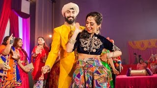 Video Amazing Wedding Entrance Dance Rajdev & Simran | Gal Sun Challeya | DAS JA | WONDERLAND MP3, 3GP, MP4, WEBM, AVI, FLV Maret 2019