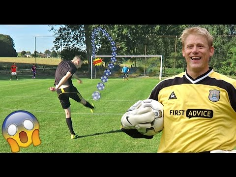 PETER SCHMEICHEL IN REAL LIFE SHOOTING CHALLENGE!! (FOOTBALL) (видео)
