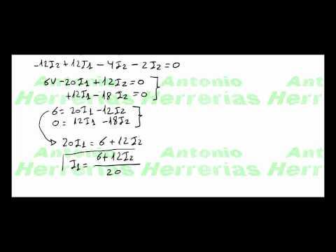 Resolución de un circuito aplicando la 2ª  ley de Kirchhoff parte 1 de 2.mp4