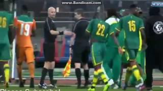 Senegal vs Cote D'Ivoire match abandoned in the 88' due to fan misbehavior in Paris, France.