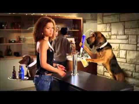 Funny Bud Light Beer Dog Sitter Sitting Super Bowl Commercial Advert TV Spot for Here We Go in 2011