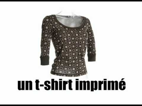 [Basic French lesson] [Vocabulary] Les vêtements pour femme