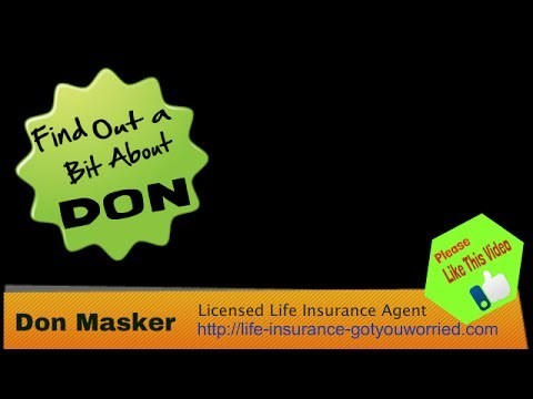 Don Masker Tells How, Why He Became a Life Insurance Agent-Client of Build a Web Biz