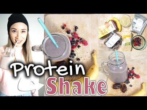 Eiweiß / Protein Shake selber machen - ohne Supplements - Was essen nach dem Sport - Vegan