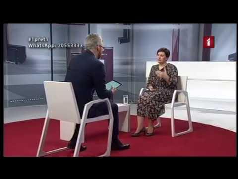 """LTV """"Aktuālā intervija 1:1"""" saruna ar veselības ministri Ilzi Viņķeli par ārkārtas stāvokli ierobežot pandēmiju"""