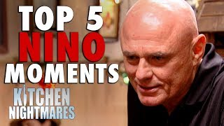 The man... the myth... the legend. It's time for Nino's top 5 moments.If you liked this clip check out the rest of Gordon's channels:http://www.youtube.com/gordonramsayhttp://www.youtube.com/thefwordhttp://www.youtube.com/kitchennightmaresMore Gordon Ramsay:Website: http://www.gordonramsay.comFacebook: http://www.facebook.com/GordonRamsay01Twitter: http://www.twitter.com/GordonRamsay