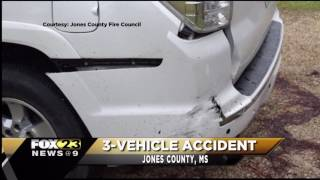 1 injured, 3-vehicle crash