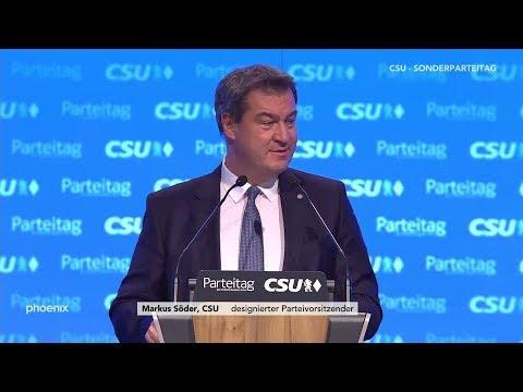 CSU-Parteitag: Bewerbungsrede von Markus Söder zum Pa ...