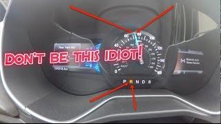 شاهد ماذا سيحدث للسيارة اذا غيرت فجأة علبة السرعة الى الخلف وهي بسرعة 100