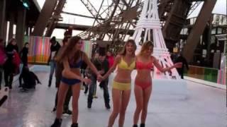 Défi Sexy : En Lingerie Sur La Tour Eiffel !
