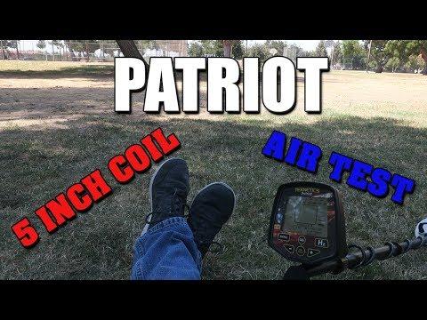 Metal Detecting:  Teknetics Patriot - 5 Inch Coil Air Test