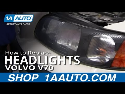 How To Install Replace Change Headlight and Bulb 2001-074 Volvo V70