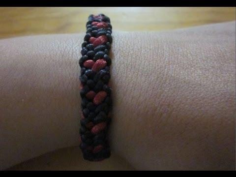 Videotutorial: pulsera plana de Kumihimo con corazones