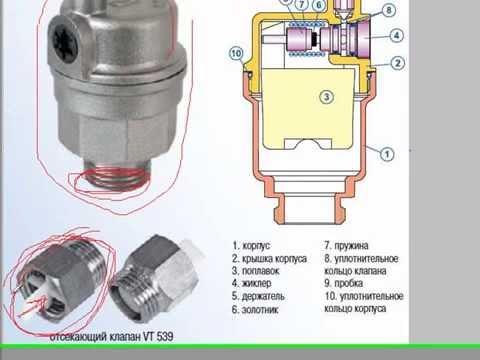 Автоматические воздухоотводчики продемонстрированы в торговле в широком ассортименте угловыми