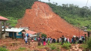 A massive mudslide killing more than 200 people in Sierra Leone on Monday, sweeping away homes just outside Freetown - the country's capital. Police and ...