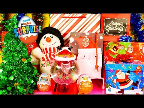 DCTC Christmas Surprise Toys Ornaments Blind Boxes Opening Kinder Joy Eggs Disney Cars Toy Club