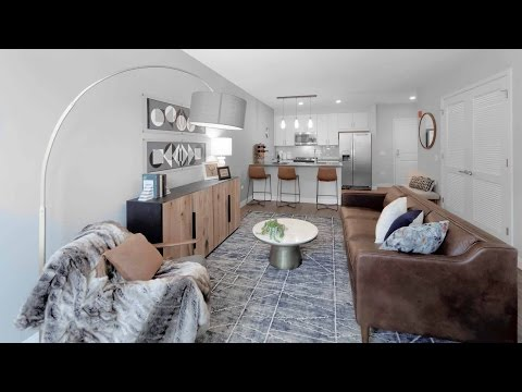 An appealing 1-bedroom furnished model in downtown Oak Park at The Emerson