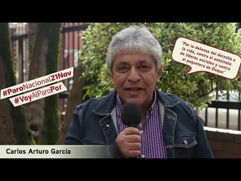 Carlos Arturo García va al #ParoNacional21N