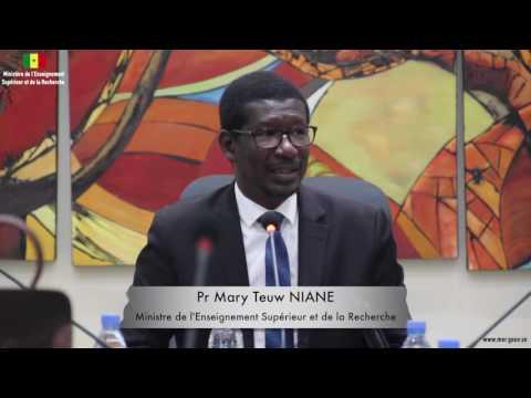 Atelier sur les ENO de l'UVS Mot du Pr Mary Teuw NIANE Ministre de l'Enseignement supérieur et de la recherche