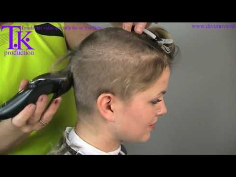 Download I love to go ultra short! clipper haircut of Jacky by Theo Knoop HD Video