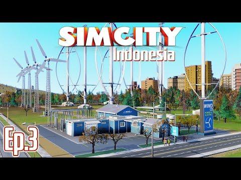 LISTRIK VERTICAL TURBINE DAN PANEL SURYA - SimCity 5 Indonesia | Season 2 - Ep.3
